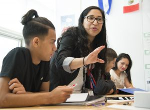 Yecenia Morales, Spanish teacher Wheaton High School. In her classroom on Tuesday February 28, 2017. Winner: Rising Star Teacher of the Year