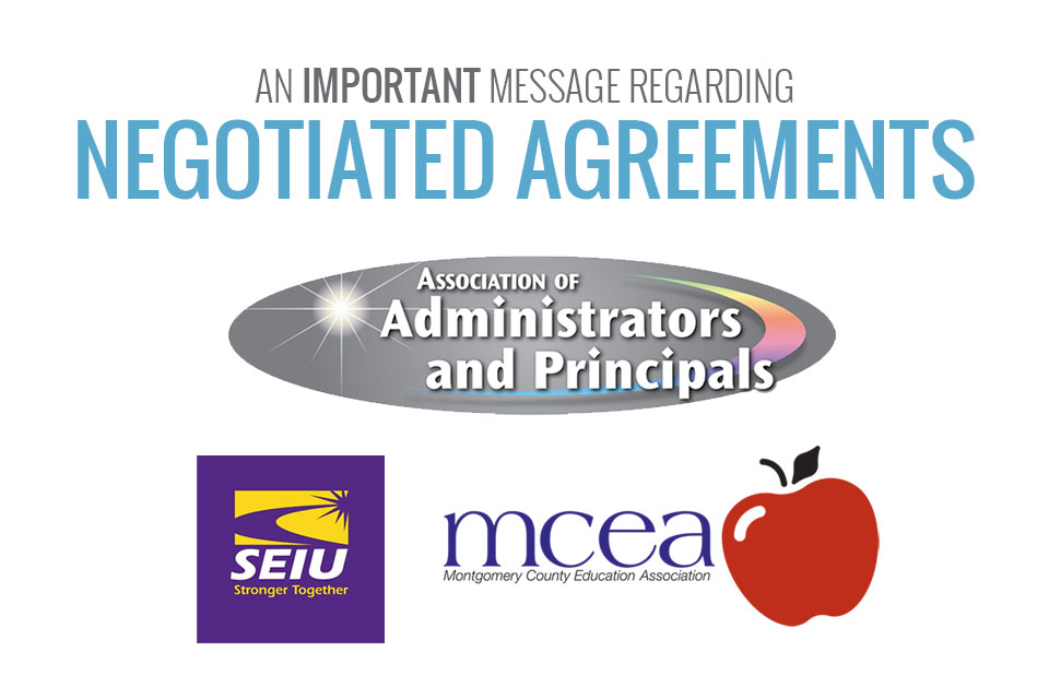 An Important Message Regarding Negotiated Agreements