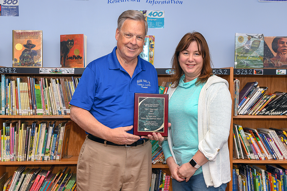 Meadow Hall Elementary School principal Cabell Lloyd has been honored with  the Nancy C. Walker Award for Outstanding Support to a Library Media  Program for ...