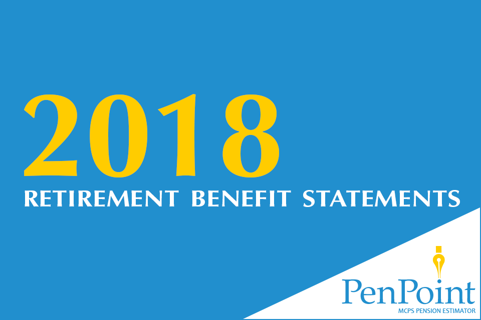 have you reviewed your 2018 retirement benefit statement on penpoint