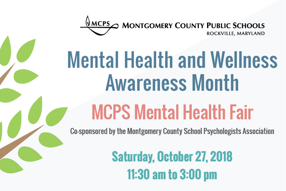 MCPS to Host Mental Wellness Resource Fair on Oct. 27