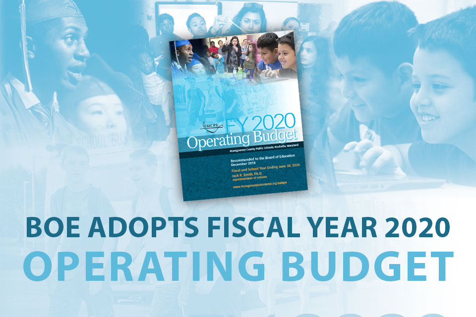 BOE Adopts Fiscal Year 2020 Operating Budget