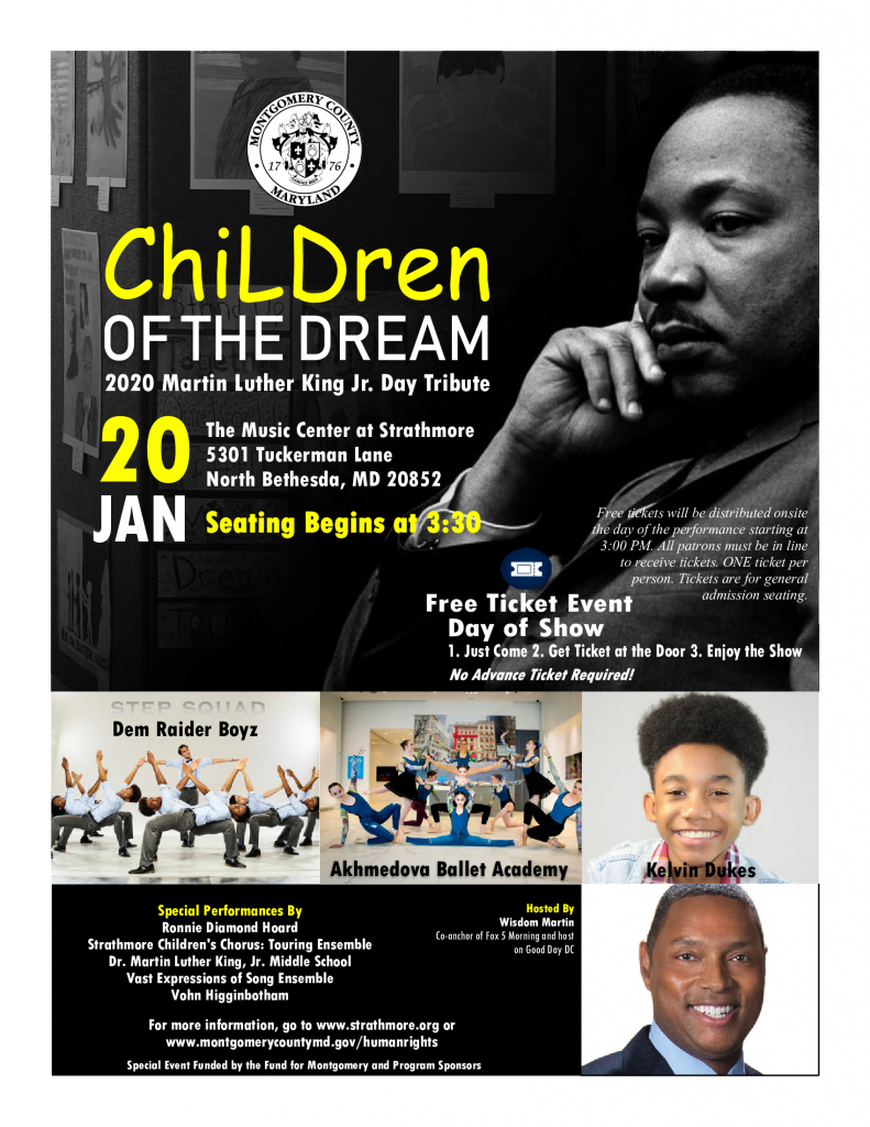 2020 Martin Luther King Jr. Day Tribute Set for Jan. 20 ...