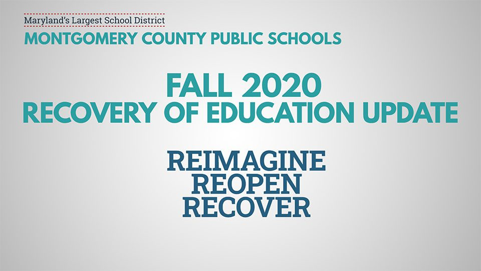 MCPS Hosting Three Virtual Conversations on Fall Recovery Guide