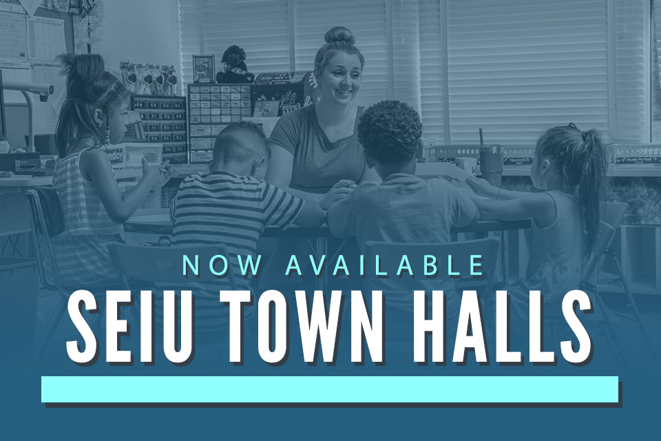 SEIU Town Halls on Reopening Now Available