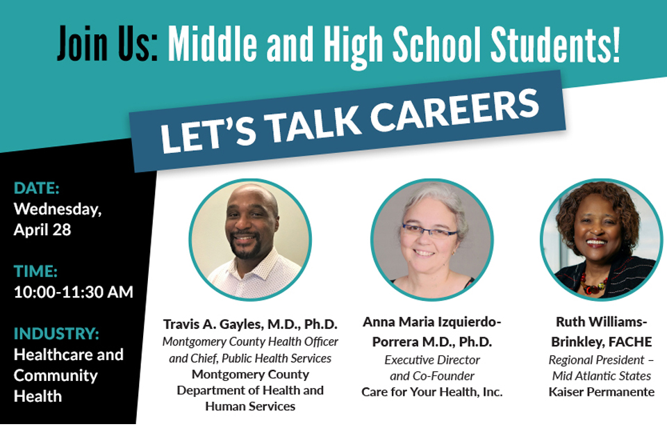 April Let's Talk Careers Will Highlight Healthcare
